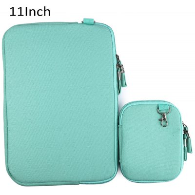 Denim Canvas Notebook Sleeve Case Laptop Bag Cover for 11 Inch Macbook Air Pro