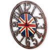 Retro Union Jack Pattern Numbers Wall Clock deal