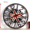 best Retro Union Jack Pattern Numbers Wall Clock