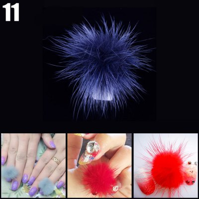 DIY Fox Fur Ball Nail Sticker Fingernails Tip Art Decors