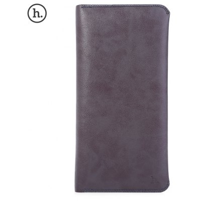 HOCO 6 Inch Multi-function Soft Genuine Leather Wallet Phone Case Card Holder for