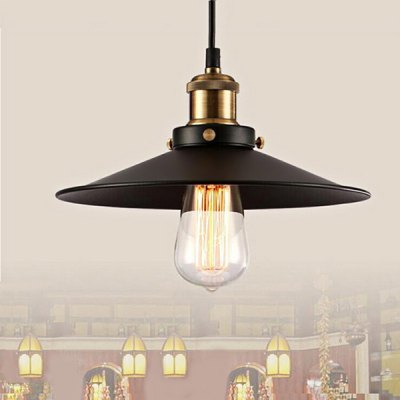 Industrial Pendant Light E27 HolderPendant Lights<br>Industrial Pendant Light E27 Holder<br><br>Type: Pendants<br>Bulb Included: No<br>Quantity of Spots: 1<br>Base Type: E27<br>Voltage (V): AC 220<br>Style: Classic<br>Function: Commercial Lighting,Home Lighting,Studio and Exhibition Lighting<br>Sheathing Material: Aluminum Alloy,Iron<br>Body Color: Black<br>Product weight: 0.850KG<br>Package weight: 1.050 KG<br>Product size (L x W x H): 30.00 x 30.00 x 14.00 cm / 11.81 x 11.81 x 5.51 inches<br>Package size (L x W x H): 35.00 x 35.00 x 18.00 cm / 13.78 x 13.78 x 7.09 inches<br>Package Contents: 1 x Pendant Light