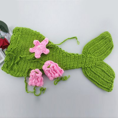 Cute Newborn Photography Mermaid Shaped Costume
