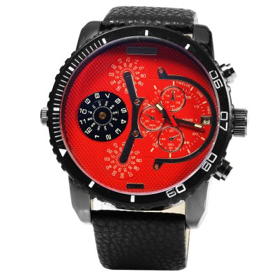 JUBAOLI 1098 Waterproof Date Function Men Quartz WatchMens Watches<br>JUBAOLI 1098 Waterproof Date Function Men Quartz Watch<br><br>Brand: Jubaoli<br>Watches categories: Male table<br>Watch style: Fashion<br>Available color: Black,Blue,Orange,Red,White<br>Movement type: Quartz watch<br>Shape of the dial: Round<br>Display type: Analog<br>Case material: Stainless Steel<br>Case color: Black<br>Band material: Genuine Leather<br>Clasp type: Pin buckle<br>Special features: Date,Decorating small sub-dials,Working sub-dial<br>Water resistance : 30 meters<br>The dial thickness: 1.5 cm / 0.59 inches<br>The dial diameter: 5.2 cm / 2.05 inches<br>The band width: 2.5 cm / 0.98 inches<br>Wearable length: 19.0 - 25.0 cm / 7.48 - 9.84 inches<br>Product weight: 0.088 kg<br>Package weight: 0.118 kg<br>Product size (L x W x H): 27.00 x 6.00 x 1.50 cm / 10.63 x 2.36 x 0.59 inches<br>Package size (L x W x H): 28.00 x 7.00 x 2.50 cm / 11.02 x 2.76 x 0.98 inches<br>Package Contents: 1 x Male Watch