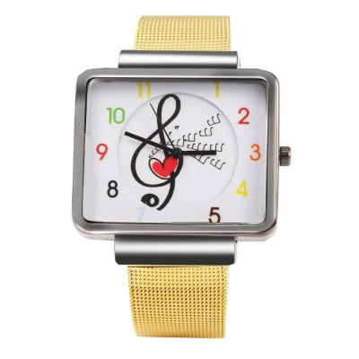JUBAOLI 1094 Note Decoration Ladies Quart Watch Steel Net BandWomens Watches<br>JUBAOLI 1094 Note Decoration Ladies Quart Watch Steel Net Band<br><br>Brand: Jubaoli<br>Watches categories: Female table<br>Available color: Black,Gold<br>Style: Fashion&amp;Casual<br>Movement type: Quartz watch<br>Shape of the dial: Rectangle<br>Display type: Analog<br>Case material: Stainless Steel<br>Band material: Steel<br>Clasp type: Pin buckle<br>The dial thickness: 1.1 cm / 0.43 inches<br>The dial diameter: 4.0 cm / 1.57 inches<br>The band width: 1.8 cm / 0.71 inches<br>Wearable length: 16.5 - 21.0 cm / 6.50 - 8.27 inches<br>The band length: 23.0 cm / 9.06 inches<br>Product weight: 0.057 kg<br>Package weight: 0.087 kg<br>Product size (L x W x H): 23.00 x 4.30 x 1.10 cm / 9.06 x 1.69 x 0.43 inches<br>Package size (L x W x H): 24.00 x 5.30 x 2.10 cm / 9.45 x 2.09 x 0.83 inches<br>Package Contents: 1 x Female Watch