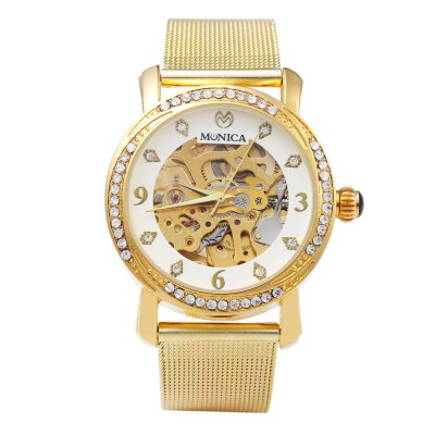 ФОТО Monica 6851 Hollow-out Female Automatic Mechanical Watch