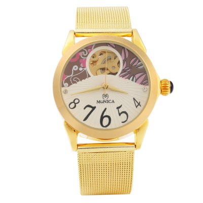 ФОТО Monica 6845 Hollow-out Female Automatic Mechanical Watch