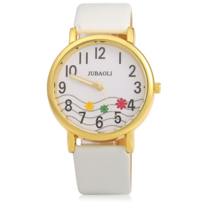 JUBAOLI 1091 Decorative Flower Ladies Quart Watch Leather BandWomens Watches<br>JUBAOLI 1091 Decorative Flower Ladies Quart Watch Leather Band<br><br>Brand: Jubaoli<br>Watches categories: Female table<br>Available color: Black,Brown,Red,White<br>Style: Fashion&amp;Casual<br>Movement type: Quartz watch<br>Shape of the dial: Round<br>Display type: Analog<br>Case material: Stainless Steel<br>Case color: Gold<br>Band material: Leather<br>Clasp type: Pin buckle<br>The dial thickness: 1.0 cm / 0.39 inches<br>The dial diameter: 4.0 cm / 1.57 inches<br>The band width: 2.0 cm / 0.79 inches<br>Wearable length: 18 - 21.5 cm / 7.09 - 8.46 inches<br>The band length: 24.0 cm / 9.45 inches<br>Product weight: 0.028 kg<br>Package weight: 0.058 kg<br>Product size (L x W x H): 24.00 x 4.10 x 1.00 cm / 9.45 x 1.61 x 0.39 inches<br>Package size (L x W x H): 25.00 x 5.10 x 2.00 cm / 9.84 x 2.01 x 0.79 inches<br>Package Contents: 1 x Female Watch