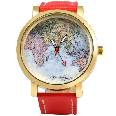 JUBAOLI 1096 Map Decoration Ladies Quart Watch Leather BandWomens Watches<br>JUBAOLI 1096 Map Decoration Ladies Quart Watch Leather Band<br><br>Brand: Jubaoli<br>Watches categories: Female table<br>Available color: Black,Blue,Orange,Red,Yellow<br>Style: Big dial,Fashion&amp;Casual<br>Movement type: Quartz watch<br>Shape of the dial: Round<br>Display type: Analog<br>Case material: Stainless Steel<br>Case color: Gold<br>Band material: Leather<br>Clasp type: Pin buckle<br>The dial thickness: 1.3 cm / 0.51 inches<br>The dial diameter: 5.0 cm / 1.97 inches<br>The band width: 2.3 cm / 0.91 inches<br>Wearable length: 19.5 - 24 cm / 7.68 - 9.45 inches<br>The band length: 26.5 cm / 10.43 inches<br>Product weight: 0.060 kg<br>Package weight: 0.090 kg<br>Product size (L x W x H): 26.50 x 5.50 x 1.30 cm / 10.43 x 2.17 x 0.51 inches<br>Package size (L x W x H): 27.50 x 6.50 x 2.30 cm / 10.83 x 2.56 x 0.91 inches<br>Package Contents: 1 x Female Watch