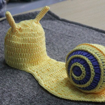 Cute Newborn Photography Snail Shaped Costume Baby Photo Props