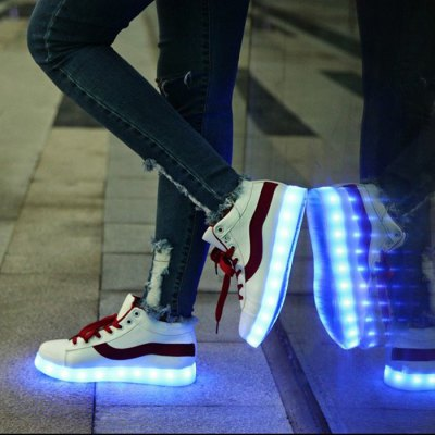 Unisex USB Chargeable Breathable LED Shoes for Adults