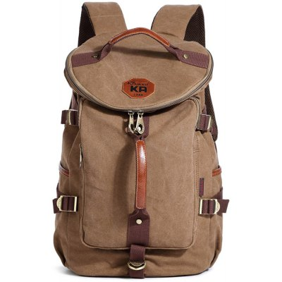 KAUKKO FS224 23L Casual Style Unisex Canvas Backpack