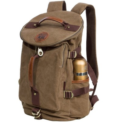KAUKKO FS224 23L Casual Style Unisex Canvas BackpackBackpacks<br>KAUKKO FS224 23L Casual Style Unisex Canvas Backpack<br><br>Brand: KAUKKO<br>Type: Backpack<br>For: Casual,Climbing,Cycling,Hiking,Other,Traveling<br>Material: Canvas,Cotton<br>Capacity: 21 - 30L<br>Bag Capacity: 23L<br>Color: Black,Blue,Dark Khaki<br>Product weight: 0.980 kg<br>Package weight: 1.130 kg<br>Product size (L x W x H): 27.00 x 20.00 x 43.00 cm / 10.63 x 7.87 x 16.93 inches<br>Package size (L x W x H): 29.00 x 6.00 x 45.00 cm / 11.42 x 2.36 x 17.72 inches<br>Package Contents: 1 x KAUKKO FS224 23L Backpack
