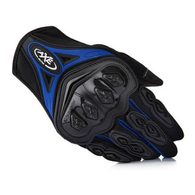AXE ST-07 Motorcycle Racing Protective GlovesMotorcycle Gloves<br>AXE ST-07 Motorcycle Racing Protective Gloves<br><br>Accessories type: Motorcycle Gloves<br>Gender: Universal<br>Function: Breathable,Wearable,Windproof<br>Material: Dacron,Rubber<br>Size: L,M,XL<br>Color: Black,Blue,Green,Orange,Red<br>Product weight: 0.140KG<br>Package weight: 0.230 KG<br>Package size (L x W x H): 30.00 x 13.00 x 5.00 cm / 11.81 x 5.12 x 1.97 inches<br>Package Contents: 1 x Pair Gloves