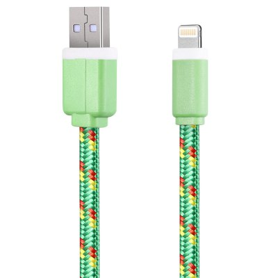 2M Nylon Braided 8 Pin Sync Data CableiPhone Cables &amp; Adapters<br>2M Nylon Braided 8 Pin Sync Data Cable<br><br>Type: Cable<br>Color: Black,Blue,Green,Orange,Purple,Red,White,Yellow<br>Interface Type: 8 pin,USB 2.0<br>Product weight: 0.044 kg<br>Package weight: 0.064 kg<br>Package size (L x W x H): 11.50 x 3.50 x 3.00 cm / 4.53 x 1.38 x 1.18 inches<br>Package Contents: 1 x 2M Colorful Nylon Braided 8 Pin Data Transfer Sync Cable