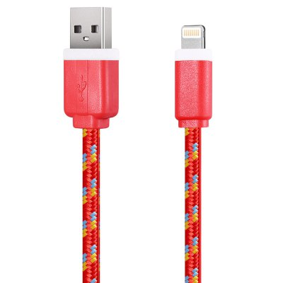 1M Nylon Braided 8 Pin Sync Data CableiPhone Cables &amp; Adapters<br>1M Nylon Braided 8 Pin Sync Data Cable<br><br>Type: Cable<br>Color: Black,Blue,Green,Orange,Purple,Red,White,Yellow<br>Interface Type: 8 pin,USB 2.0<br>Product weight: 0.025 kg<br>Package weight: 0.045 kg<br>Package size (L x W x H): 13.00 x 5.00 x 1.00 cm / 5.12 x 1.97 x 0.39 inches<br>Package Contents: 1 x 1M Colorful Nylon Braided 8 Pin Data Transfer Sync Cable
