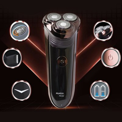 FLYCO FS363 3D Independent Floating Shaver Electric Rechargeable Razor