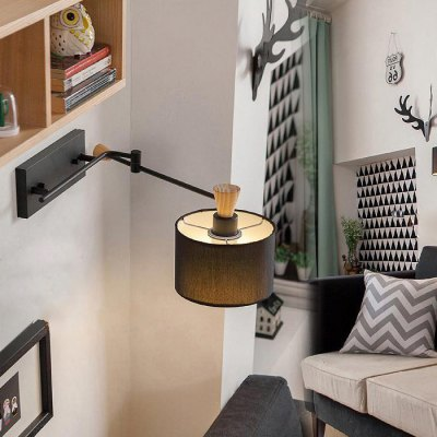 Swing Arm LED Wall Lamp Bedside Reading LightWall Lights<br>Swing Arm LED Wall Lamp Bedside Reading Light<br><br>Type: Wall Light<br>Shade Material: Fabric,Iron,Wood<br>Bulb Included: Yes<br>Power Output: 7W<br>Quantity of Spots: 1<br>Luminous Flux: 500LM<br>CCT/Wavelength: 2700-3200K,6000-6500K<br>Input Voltage: AC 220V<br>Light Color: Warm White,White<br>Package weight: 3.000 KG<br>Product size (L x W x H): 18.00 x 12.00 x 44.00 cm / 7.09 x 4.72 x 17.32 inches<br>Package size (L x W x H): 47.00 x 27.00 x 26.00 cm / 18.5 x 10.63 x 10.24 inches<br>Package Contents: 1 x Swing Arm Light