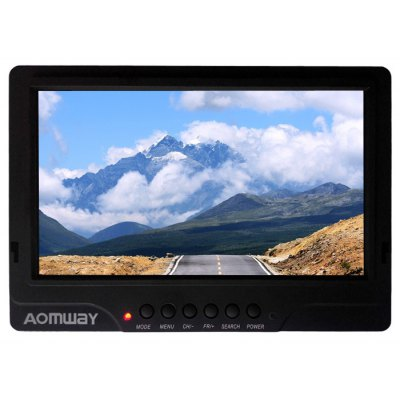 AOMWAY 7 inch LCD 5.8G 32CH Dual Receiver FPV Monitor Set