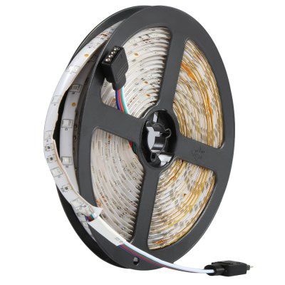 5 Meters 12V 3528 SMD 300 LEDs RGB Light LED Strip LampLED Strips<br>5 Meters 12V 3528 SMD 300 LEDs RGB Light LED Strip Lamp<br><br>Type: LED Strip<br>Features: IP-65,Low Power Consumption,Remote Control,Waterproof<br>LED type: SMD-3528<br>Number of LEDs: 300 LEDs<br>Light Color: RGB<br>Connector type: EU plug,US plug<br>Input Voltage: DC12<br>Product weight: 0.107 kg<br>Package weight: 0.394 kg<br>Package size (L x W x H): 19.00 x 18.60 x 6.20 cm / 7.48 x 7.32 x 2.44 inches<br>Package Contents: 1 x 300 LEDs 3528 SMD LED Strip Lamp, 1 x Adapter, 1 x DC Receptor, 1 x English User Manual