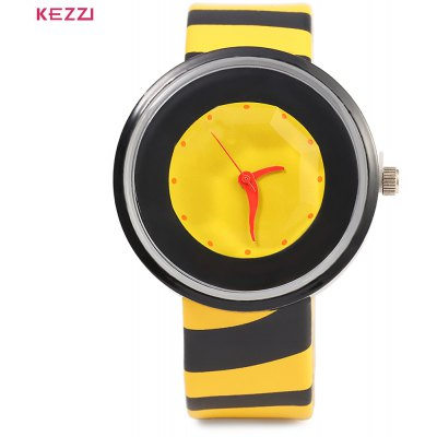 KEZZI 654 Women Quartz Watch Zebra Stripe Band