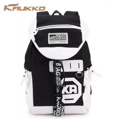 KAUKKO FP78 23L Canvas Unisex Preppy Style Backpack