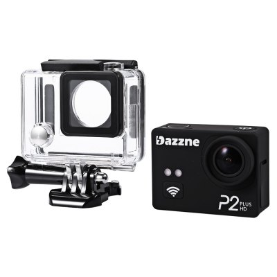 Original Dazzne P2 Plus 2K Super HD 170 Degree Wide Angle WiFi Action CameraAction Cameras<br>Original Dazzne P2 Plus 2K Super HD 170 Degree Wide Angle WiFi Action Camera<br><br>Brand: Dazzne<br>Model: P2 Plus<br>Type: Sports Camera<br>Chipset Name: Novatek<br>Chipset: Novatek 96660<br>Max External Card Supported: TF 64G (not included)<br>Class Rating Requirements: Class 10 or Above<br>Screen size: 2.0inch<br>Screen type: TFT<br>Screen resolution: 960 x 240<br>Battery Type: Built-in<br>Capacity: 1000mAh<br>Charge way: USB charge by PC<br>Working Time: About 2 hours at 720P 30fps<br>Wide Angle: 170 degree wide angle<br>Image Sensor: OV4689 CMOS<br>Camera Pixel : 4MP<br>Decode Format: H.264<br>Video format: MP4<br>Video Resolution: 1080P (1920 x 1080),1280 x 960,2K(2560 x 1440)30fps,720P (1280 x 720),848 x 480<br>Video System: NTSC,PAL<br>Video Output : HDMI<br>Image Format : JPG<br>Audio System : Built-in microphone/speacker (AAC)<br>Exposure Compensation: -2.0~2.0<br>White Balance Mode  : Auto<br>WIFI: Yes<br>WiFi Function: Remote Control<br>Waterproof: Yes<br>Water Resistant: 20m<br>Loop-cycle Recording : Yes<br>Loop-cycle Recording Time: 3min,5min,OFF<br>HDMI Output: Yes<br>USB Function: USB-Disk<br>Time Stamp: Yes<br>Interface Type: Micro HDMI,Mini USB,TF Card Slot<br>Language: Deutsch,English,French,Italian,Japanese,Russian,Simplified Chinese,Spanish,Traditional Chinese<br>Operating Temp.: -10 - 50 centigrade dgree<br>Product weight: 0.091 kg<br>Package weight: 0.407 kg<br>Product size (L x W x H): 5.90 x 4.40 x 2.80 cm / 2.32 x 1.73 x 1.10 inches<br>Package size (L x W x H): 14.50 x 11.70 x 9.30 cm / 5.71 x 4.61 x 3.66 inches<br>Package Contents: 1 x Dazzne P2 Plus Action Camera + Waterproof Housing Case + Base + Long Screw, 1 x USB Cable, 1 x Flat Surface Base + 3M Sticker, 1 x Curved Surface Base + 3M Sticker, 1 x Lens Cap, 1 x 3.7V 1000mAh