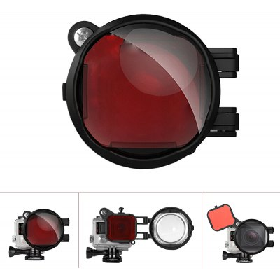 Fantaseal Diving Red Filter with 16X Close Amplifier Micro Lens for GoPro Hero 4 / 3+