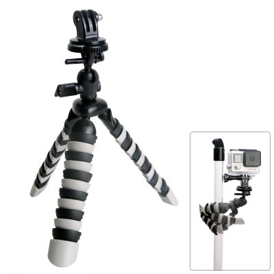 Fat Cat 8 inch Flexible Octopus TripodAction Cameras &amp; Sport DV Accessories<br>Fat Cat 8 inch Flexible Octopus Tripod<br><br>Accessory type: Tripod<br>Apply to Brand: Amkov,Dazzne,Eken,FIREFLY,GitUp,Gopro,Mobius,Polaroid,SJCAM,Soocoo,Xiaomi<br>Compatible with: Isaw, Mobile phone, Mobius Action Sports Camera, Polaroid Cube, SJ4000, SJ4000 Plus, SJ4000 WiFi, SJ5000, SJ6000, SJ7000, SJCAM 4000 plus, SJCAM 5000 plus, SJCAM M10, SJCAM M10 Plus, Soocoo C10, GoPro Hero Series, GoPro Hero 4 Session, A9, Action Camera, AMK 5000, AMK 5000S, Dazzne P2, Dazzne P3, EKEN H9, FIREFLY 5S, FIREFLY 6S, Gopro Hero 4, Gopro Hero 3 Plus, Gopro Hero 3, Gopro Hero 2, Gopro Hero 1, Gitup Git2, GitUp Git1<br>Length Range(cm): 23 - 80cm<br>Material: Plastic, Metal, Alluminum Alloy<br>Package Contents: 1 x Tripod<br>Package size (L x W x H): 27.00 x 12.00 x 7.00 cm / 10.63 x 4.72 x 2.76 inches<br>Package weight: 0.2000 kg<br>Product size (L x W x H): 21.00 x 4.00 x 4.00 cm / 8.27 x 1.57 x 1.57 inches<br>Product weight: 0.1150 kg