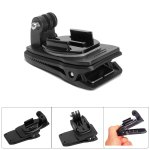 Fat Cat 360 Degree Rotation Quick Release Backpack Clip Dual Camera Recording Mount Universal Accessory for Action Sport Cameras