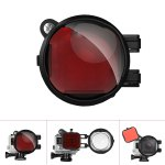 Fantaseal Diving Red Filter with 16X Close Amplifier Micro Lens for GoPro Hero 4 / 3+ Action Sport Camera