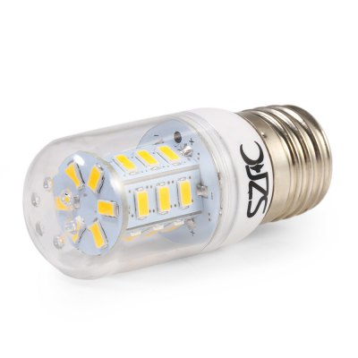 10pcs SZFC 3W E27 SMD 5730 280LM LED Corn BulbCorn Bulbs<br>10pcs SZFC 3W E27 SMD 5730 280LM LED Corn Bulb<br><br>Available Light Color: White,Warm White<br>Brand: SZFC<br>CCT/Wavelength: 3000K,6000K<br>Emitter Types: SMD 5730<br>Features: 80% Brightness, Long Life Expectancy, Energy Saving<br>Function: Studio and Exhibition Lighting, Commercial Lighting, Home Lighting<br>Holder: E27<br>Luminous Flux: 280Lm<br>Output Power: 3W<br>Package Contents: 10 x SZFC E27 LED Corn Bulb<br>Package size (L x W x H): 9.00 x 12.40 x 12.40 cm / 3.54 x 4.88 x 4.88 inches<br>Package weight: 0.300 KG<br>Product size (L x W x H): 7.90 x 3.10 x 3.10 cm / 3.11 x 1.22 x 1.22 inches<br>Product weight: 0.024KG<br>Sheathing Material: Plastic<br>Total Emitters: 24<br>Type: Corn Bulbs<br>Voltage (V): AC 220-240