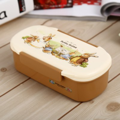 Portable PP Lunch Box with Rectangle Style