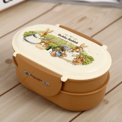 Dual Layer Lunch Box with Ellipse Type