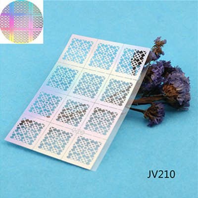 12PCS Hollow Nail Art Template Stickers