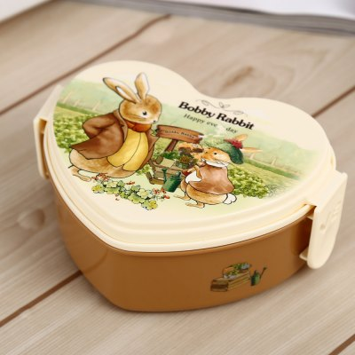 Cute PP Heart Shape Lunch Box for Kids Adults