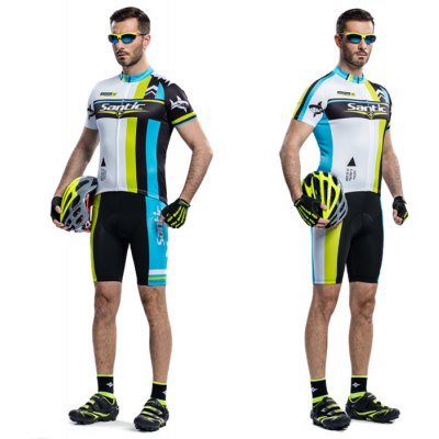 Santic Male Splicing Color Summer Cycling Suit