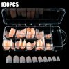 100PCS Flesh Colored Artificial Nail Tips