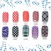 best 12PCS Hollow Nail Art Template Stickers