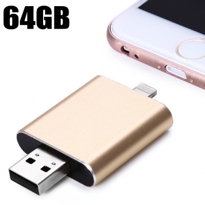 Double End 64GB i-FlashDrive HD 8Pin USB 2.0 OTG Flash Drive
