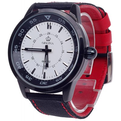 Orkina W008 Three Scale Male Quartz Watch with Date Function