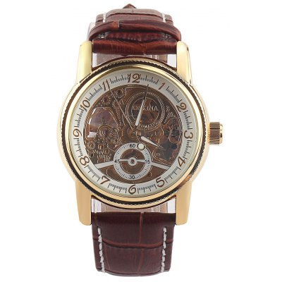 Orkina Decorative Sub-dial Hollow-out Male Automatic Mechanical Watch