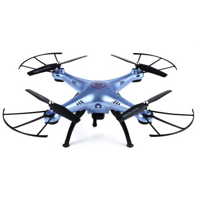Syma X5HW WiFi FPV 0.3 Mega Pixel Camera 2.4G 4 Channel 6-axis Gyro Quadcopter RTFRC Quadcopters<br>Syma X5HW WiFi FPV 0.3 Mega Pixel Camera 2.4G 4 Channel 6-axis Gyro Quadcopter RTF<br><br>Age: Above 12 years old<br>Battery: 3.7V 500mA<br>Brand: Syma<br>Built-in Gyro: Yes<br>Camera Pixels: 0.3MP<br>Channel: 4-Channels<br>Charging Time.: About 130mins<br>Control Distance: 100-300m<br>Detailed Control Distance: About 100m<br>Features: WiFi FPV<br>Flying Time: 5-7mins<br>Functions: Up/down, With light, 3D rollover, Forward/backward, Turn left/right, Trim, FPV, Headless Mode, Height Holding, Hover, Left / Right Hand Throttle Switch, Level Calibration, Low-voltage Protection, Camera, Over-current Protection<br>Kit Types: RTF<br>Level: Intermediate Level<br>Material: Plastic, Electronic Components<br>Mode: Mode 1 &amp; Mode 2(Left &amp; Right Hand Throttle)<br>Model Power: Built-in rechargeable battery<br>Night Flight: Yes<br>Package Contents: 1 x Quadcopter, 1 x Transmitter, 1 x Camera, 4 x Propeller, 4 x Propeller Protector, 1 x Screwdriver, 4 x Landing Gear, 1 x Phone Holder, 1 x English Manual<br>Package size (L x W x H): 42.00 x 32.00 x 10.00 cm / 16.54 x 12.6 x 3.94 inches<br>Package weight: 0.9830 kg<br>Product size (L x W x H): 33.00 x 33.00 x 11.00 cm / 12.99 x 12.99 x 4.33 inches<br>Product weight: 0.1210 kg<br>Radio Mode: Mode 1 &amp; Mode 2 ?Left &amp; Right-hand Throttle?<br>Remote Control: 2.4GHz Wireless Remote Control<br>Transmitter Power: 4 x 1.5V AA battery(not included)<br>Type: Quadcopter, Racing Quadcopter