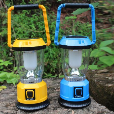 AOTU LSC-9028 Solar USB Rechargeable Camping LanternOutdoor Lanterns<br>AOTU LSC-9028 Solar USB Rechargeable Camping Lantern<br><br>Best Use: Backpacking,Camping,Casual,Climbing,Emergency,Fishing,Hiking,Travel<br>Brand: AOTU<br>Color: Blue,Yellow<br>Features: Portable, Rechargeable<br>LED Quantity: 6 LED<br>Lumens: 250 LM<br>Mode: 3Modes<br>Model Number: LSC-9028<br>Package Contents: 1 x AOTU LSC-9028 Camping Lantern, 1 x USB Cable<br>Package size (L x W x H): 24.00 x 12.00 x 12.00 cm / 9.45 x 4.72 x 4.72 inches<br>Package weight: 0.628 kg<br>Power Source: AA,Battery,Solar Power,USB charging<br>Product size (L x W x H): 22.50 x 10.60 x 10.60 cm / 8.86 x 4.17 x 4.17 inches<br>Product weight: 0.460 kg