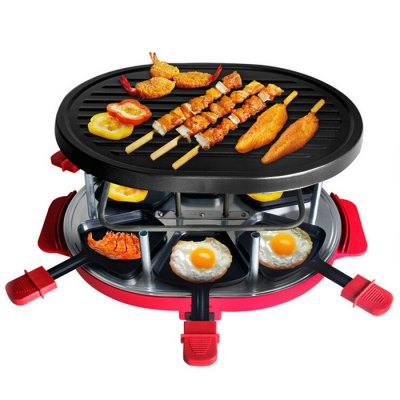 JJ16018 Smokeless Electric GrillBBQ<br>JJ16018 Smokeless Electric Grill<br><br>Color: Red<br>Frequency: 50Hz<br>Material: Stainless Steel<br>Model: JJ16018<br>Package Contents: 1 x Host, 3 x Wooden Shovel, 6 x Small Hang, 1 x Bilingual Manual in English and Chinese<br>Package size (L x W x H): 38.00 x 35.00 x 16.00 cm / 14.96 x 13.78 x 6.30 inches<br>Package weight: 2.630 kg<br>Power (W): 800W<br>Product size (L x W x H): 32.00 x 30.00 x 12.00 cm / 12.60 x 11.81 x 4.72 inches<br>Product weight: 2.000 kg<br>Voltage (V): 220V