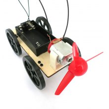 DIY Wind Car B2 Model Educational Toy Physics Handwork