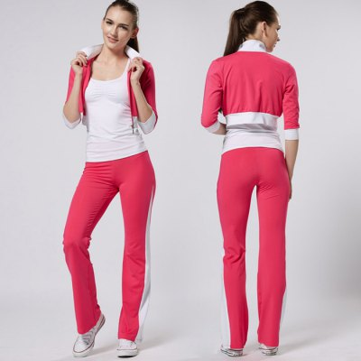 LEFAN Female Exercising Yoga Suit PTT MadeYoga<br>LEFAN Female Exercising Yoga Suit PTT Made<br><br>Brand: LEFAN<br>Type: Long Sleeve Suit<br>Gender: Female<br>Color: Blue,Green,Multi-color,Pink,White<br>Size: L,M,XL,XXL<br>Product weight: 0.300KG<br>Package weight: 0.350 KG<br>Package size: 28.00 x 21.00 x 3.00 cm / 11.02 x 8.27 x 1.18 inches<br>Package Content: 1 x Long Sleeves, 1 x Pants