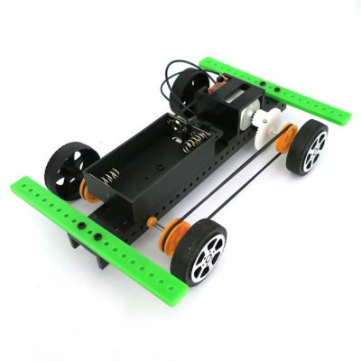 DIY 4WD Car No.2 Model Battery Operated Educational Toy Physics Handwork