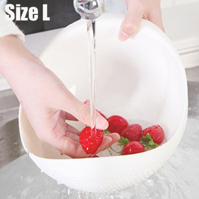 2 in 1 Vegetables Washing Basin Rice Sieve