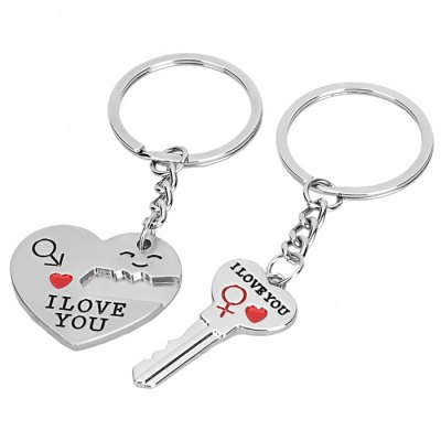 2PCS Lovely I Love You Shape Key ChainOther Supplies<br>2PCS Lovely I Love You Shape Key Chain<br><br>Material: Others<br>Color: Silver<br>Product weight: 0.018 kg<br>Package weight: 0.039 kg<br>Product size (L x W x H): 3.20 x 2.70 x 0.20 cm / 1.26 x 1.06 x 0.08 inches<br>Package size (L x W x H): 4.00 x 3.00 x 1.00 cm / 1.57 x 1.18 x 0.39 inches<br>Package Contents: 2 x Lovely I Love You Shape Key Chain